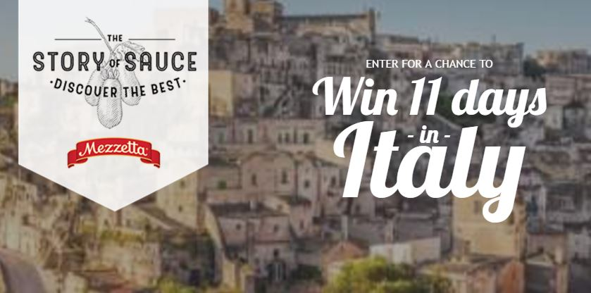 Mezzetta Win 11 day trip to Italy