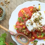 Summer Sides! Tomato Salad with Savory Ancho Granola
