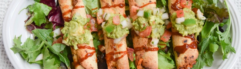 BBQ Beef, Black Bean and Sweet Potato Taquitos are baked and filled with wholesome ingredients.