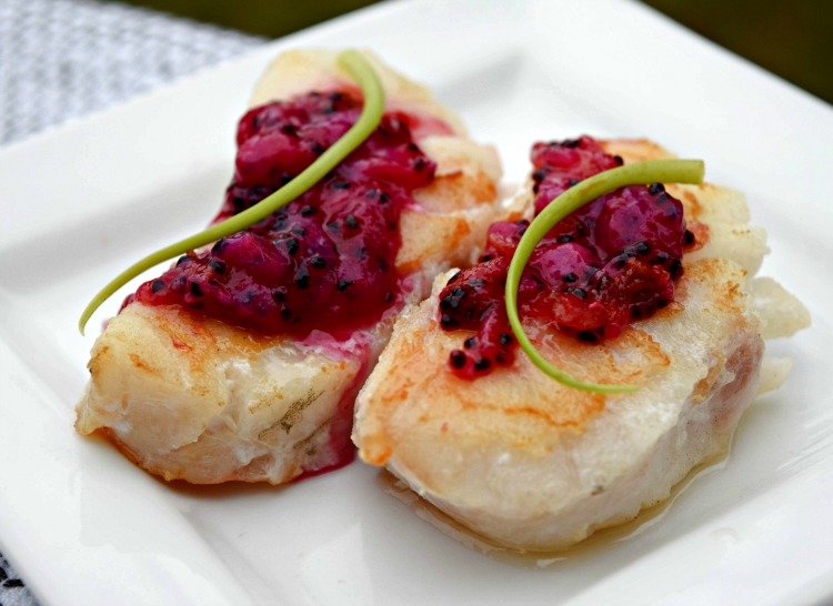 Dragon Fruit Coulis Atlantic Cod