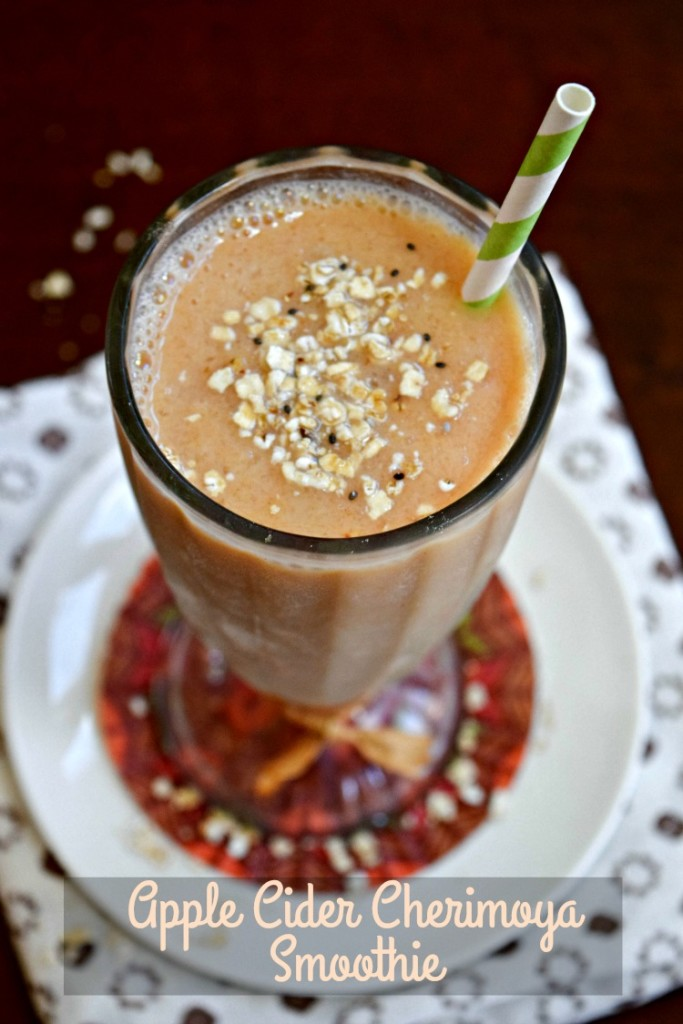 Apple Cider Cherimoya Smoothie is loaded with fall flavor, fiber, vitamin C and more!