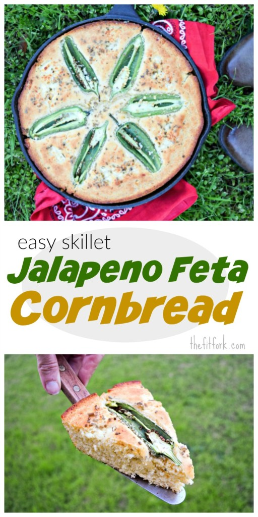 Easy Skillet Jalapeno Cornbread makes the perfect pairing with soups, stews, and salads.  Also, did you know that cooking and baking in cast iron helps add additional iron to your diet? Another reason to make a batch for dinner tonight.,