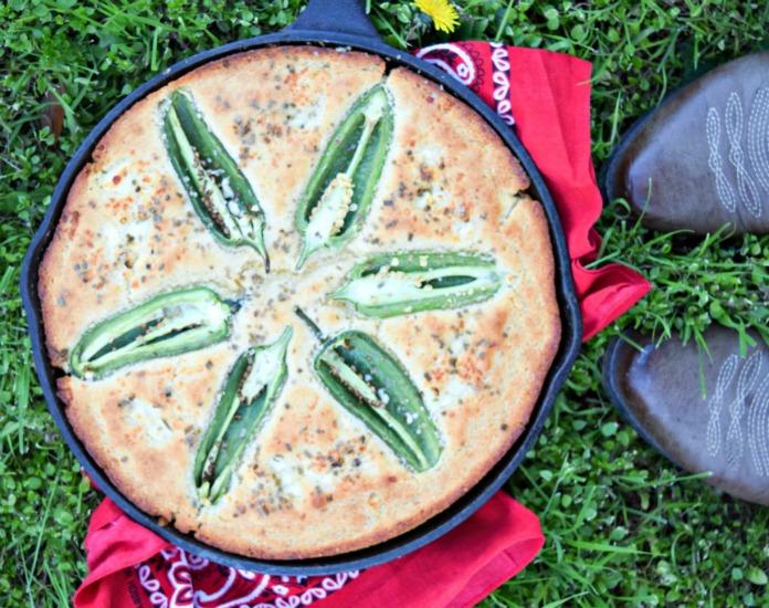 Jalapeno Cheese Cornbread Skillet