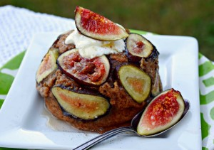 Fig Protein Mug Muffin using Truvia Nectar