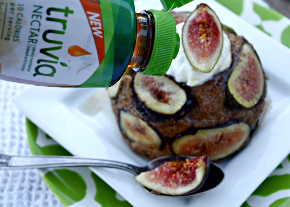 Truvia Nectar on Fig Cake