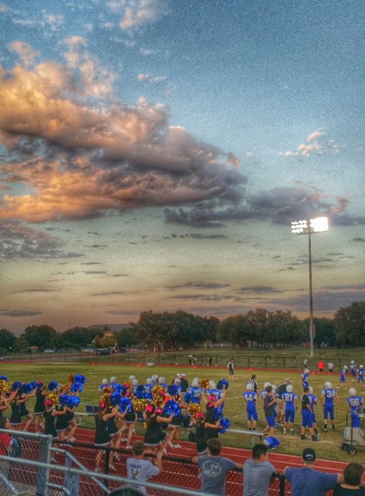 Austin Sunset in October / Middle School Football