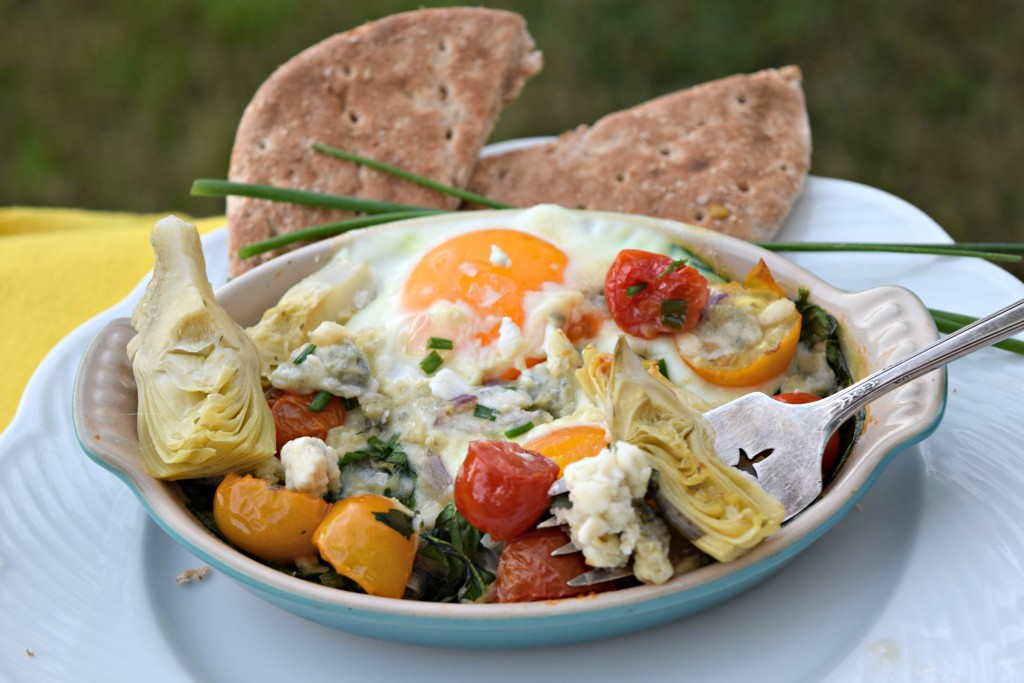 Artichoke Blue Cheese Eggs