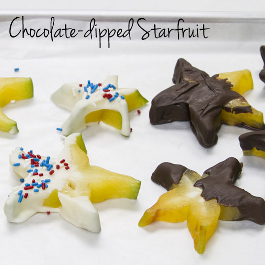 Chocolate Dipped Starfruit from Friedas.com