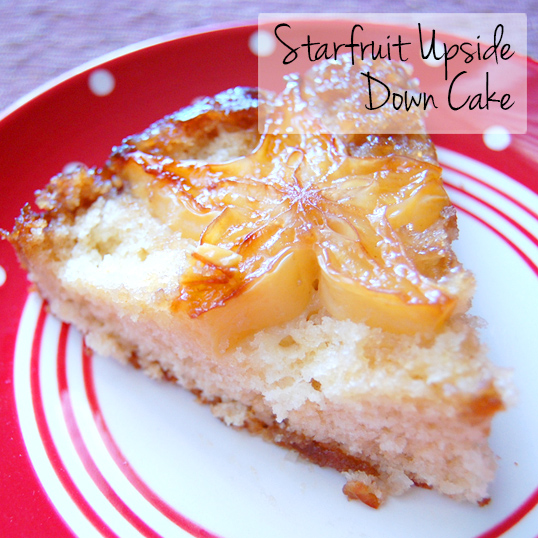 Starfruit Upside Down Cake from Friedas.com