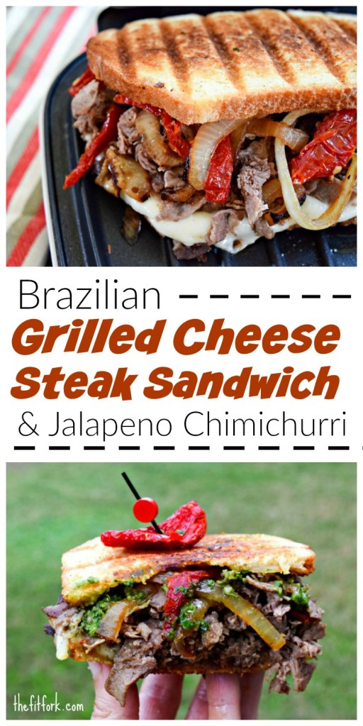 Brazilian Grilled Cheese Steak Sandwich ith Jalapeno Chimichurri is a delicious lunch or dinner that they whole family will love.