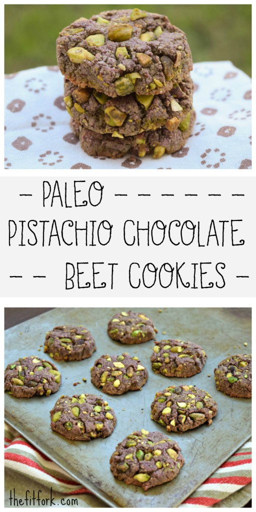 Paleo Pistachio Chocolate Beet Cookies are a smart way to celebrate the holidays and fuel up for winter runs and workouts!