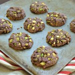 Pistachio Chocolate Beet Cookies