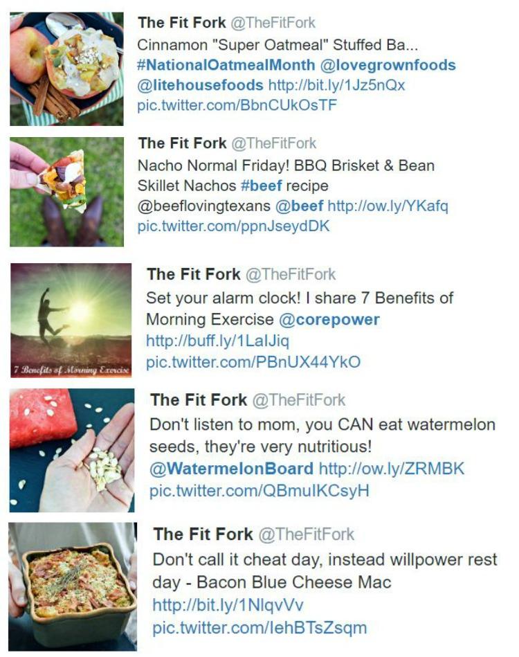 Top Tweets 2016 TheFitFork