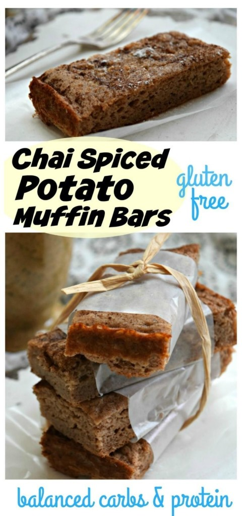 Chai Spice Potato Muffin Bars are gluten-free, sugar-free and a smart way for runners, obstacle course racers, triathletes and other endurance athletes to fuel up and recover optimally.