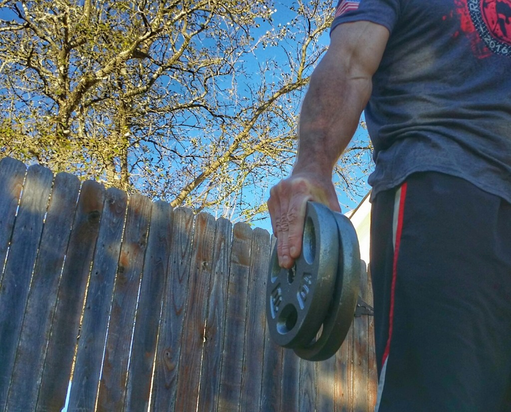 Pinch Plates exercise for grip strenth.