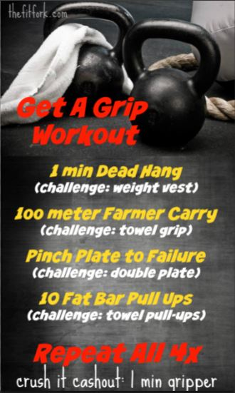 Get a Grip Workout will strengthen your lower arms for better obstacle crushing in Spartan and other obstacle course races.