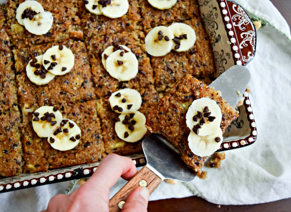 Banana Quinoa Oat 'n More Breakfast bake