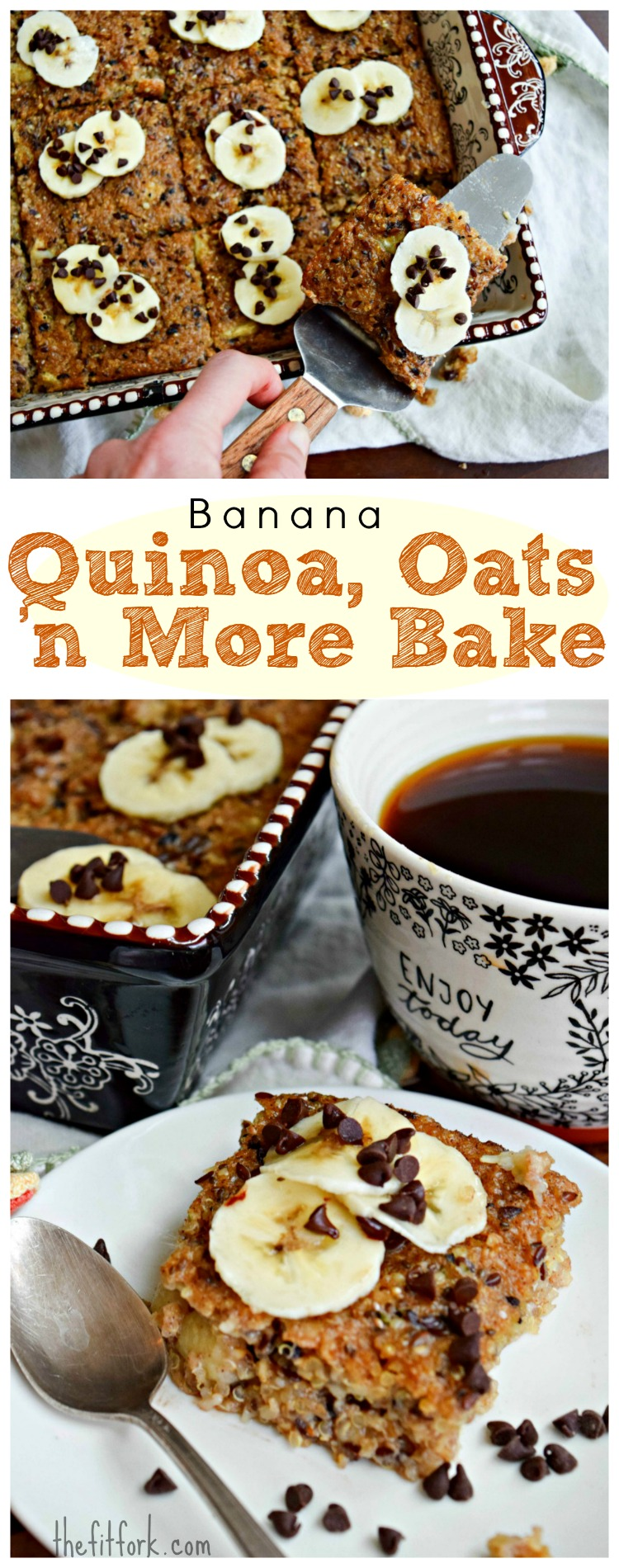Banana, Quinoa, Oats 'n More Breakfast Bake is a hearty and wholesome hot breakfast that warms you up from the inside out during winter. Jump start your morning with hemp seed, chia seed, flax seed, cacao nibs and more healthy goodness -- the make-ahead recipe also has no added sugar and leftovers can be frozen in individual servings.
