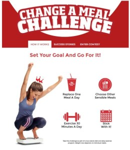 Smoothie King change a meal challenge