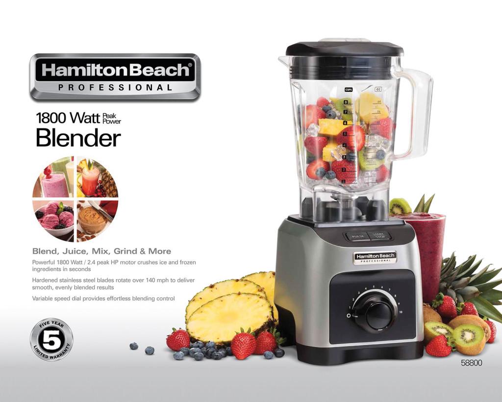 Hamilton Beach Peak Performance Professional Blender Giveaway