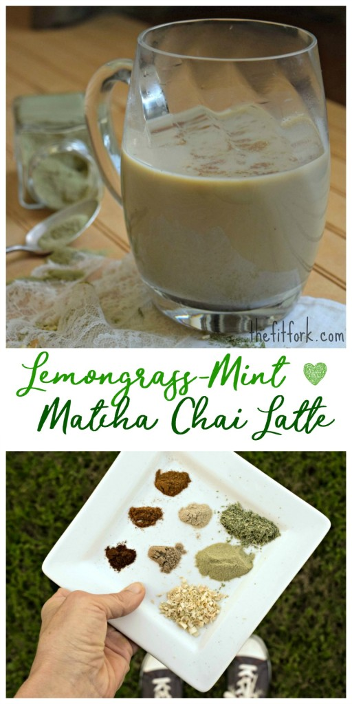 Lemongrass Mint Matcha Chai Latte is a mug full of creamy green goodness ready to jump start your morning and optimize your health with important antioxidants.