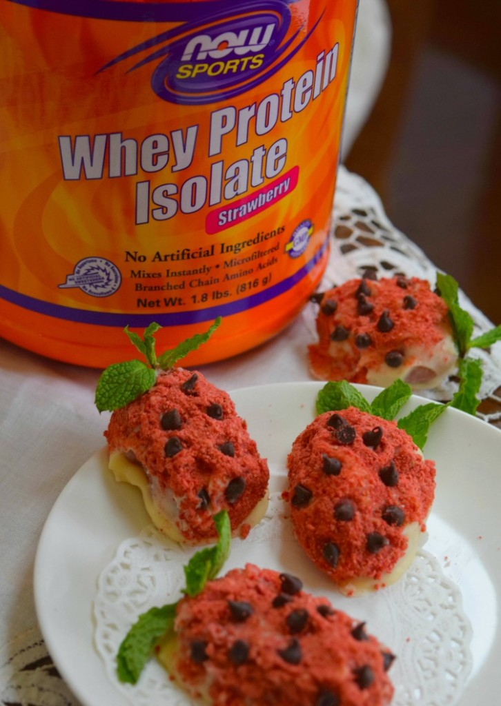 Sugar Free Strawberry Protein Truffles