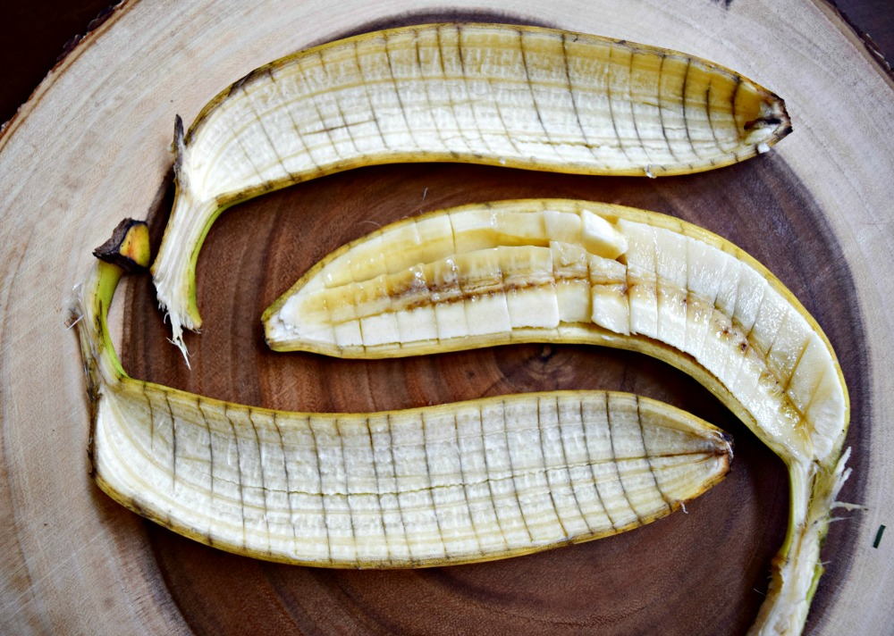 Dicing your banana in the peel is a nice and tidy way to prep it for banana bread, oatmeal, or to top your toast.
