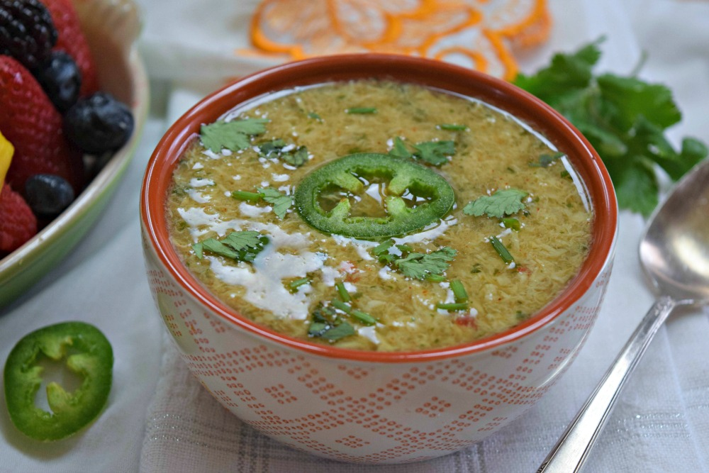 Tex Mex Egg Drop Soup