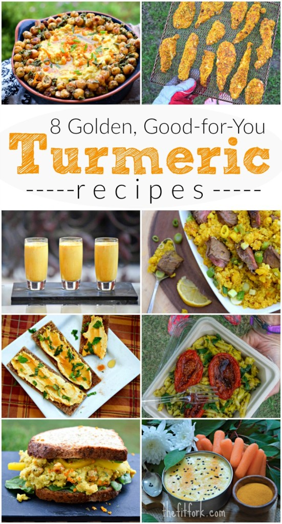 These vibrantly colored recipes are also vitamin and nutrient packed thanks in large part to TURMERIC.  Incorporate this anti-inflammatory spice into your diet and make at least one of these dishes for lunch, dinner or snack time!