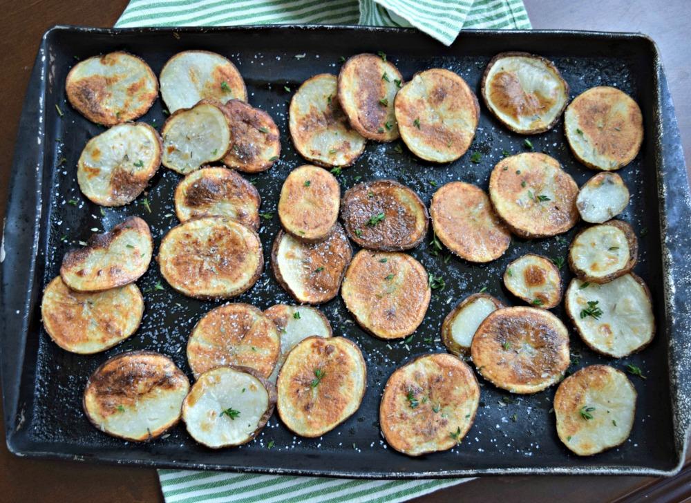 Making homemade potato chips