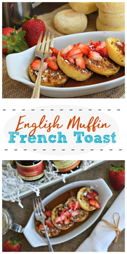 Easy English Muffin French Toast is a simply delicious way to enjoy breakfast or brunch, even on busy mornings!