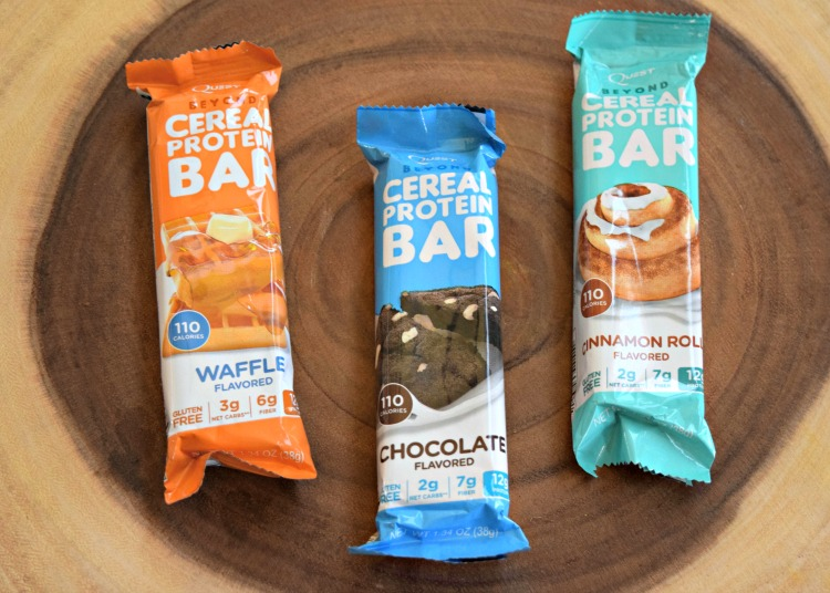 Quest cereal bars three flavors