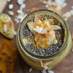 Toasted Coconut Turmeric and Ginger Overnight Oats are a hearty, healthy and healing breakfast. Perfect for meal prepping and morning meals on the go!