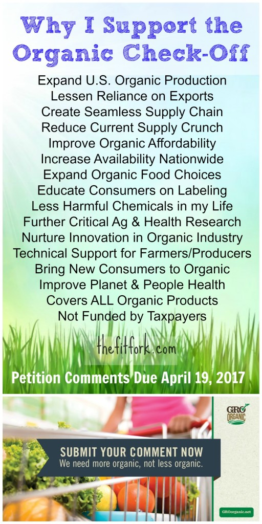 Why I Support the Organic Check Off - thefitfork.com