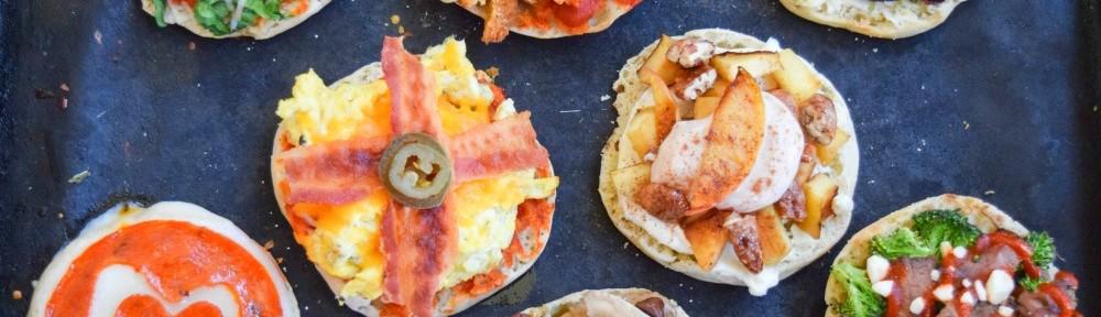 English Muffin Pizzas baking shee