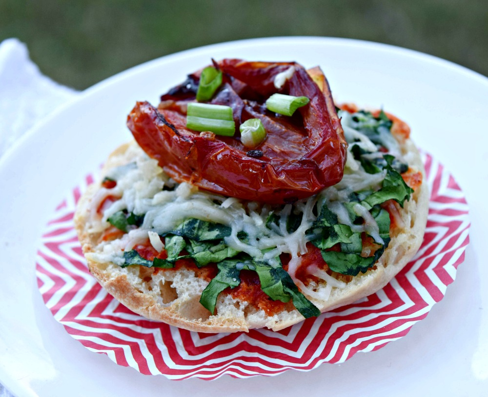 Roasted Tomato Spinach English Muffin