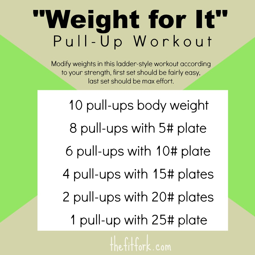 weighted pull-up workout