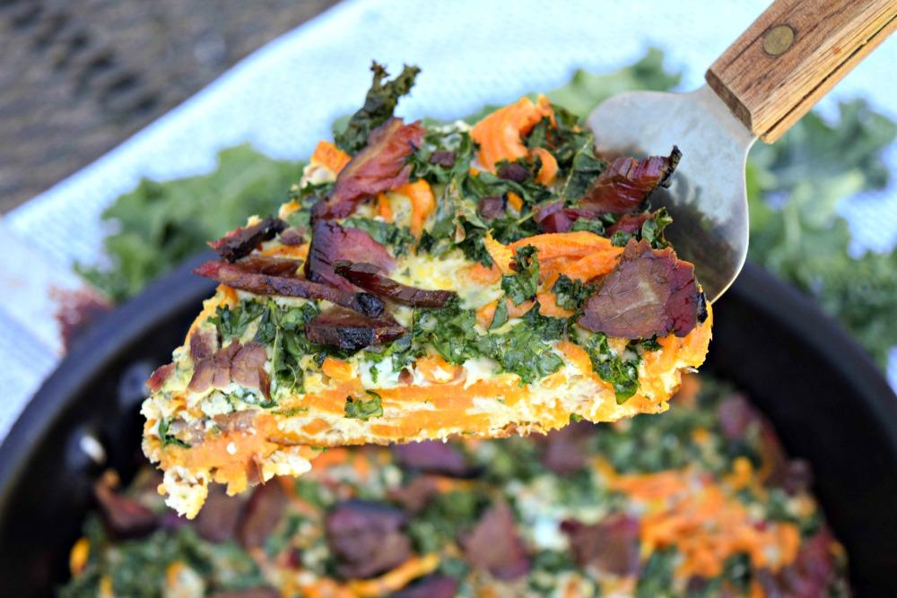 Brisket Kale Sweet Potato Fritttata