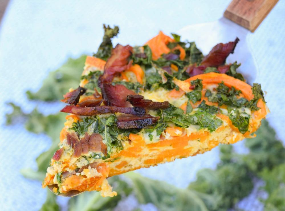 Brisket Kale Sweet Potato Fritttata Slice