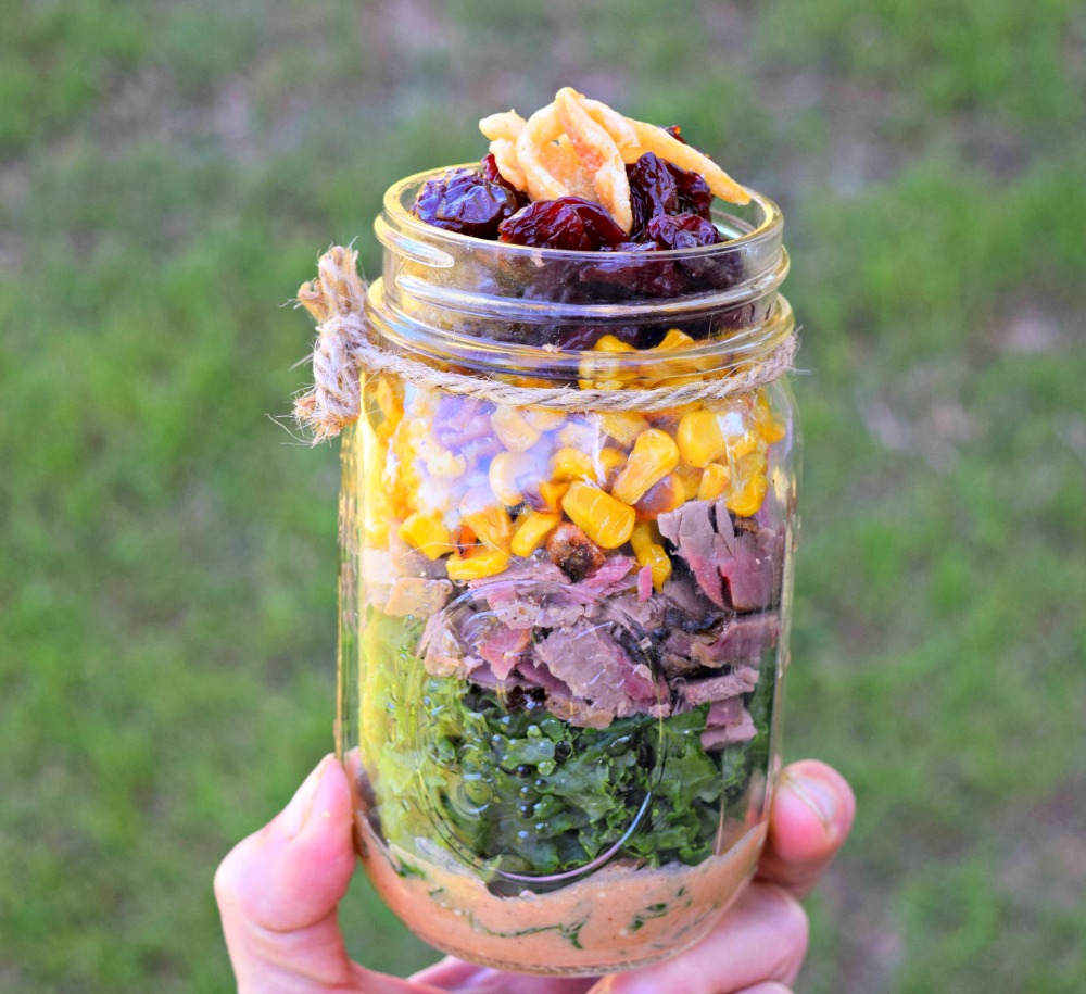 Brisket, Corn & Kale Salad with Creamy Texas Dressing