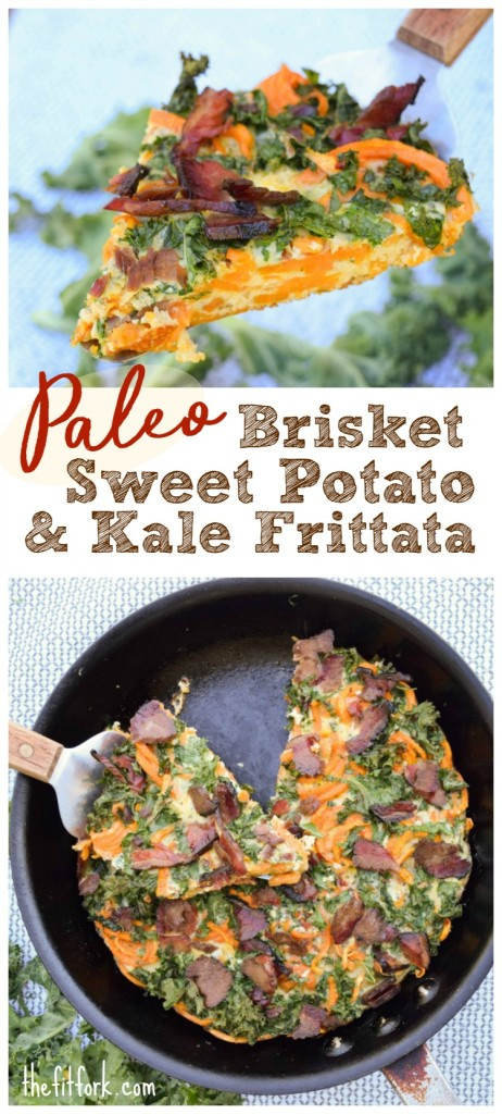 Brisket Kale Sweet Potato Fritttata a 30 minute, 5 ingredient meal solution for breakfast, lunch or dinner.