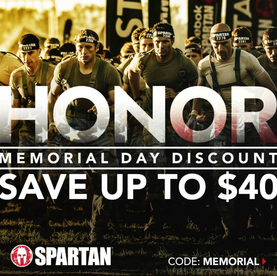 spartan race memorial day discount