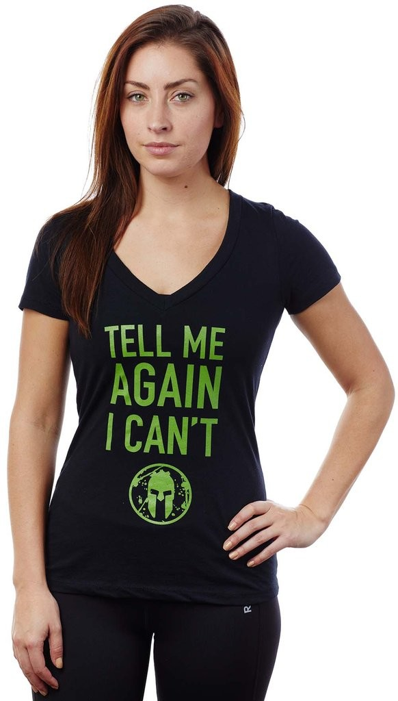 tell me again spartan tee