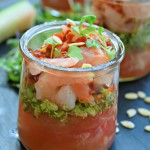 thai style watermelon rind shrimp ceviche