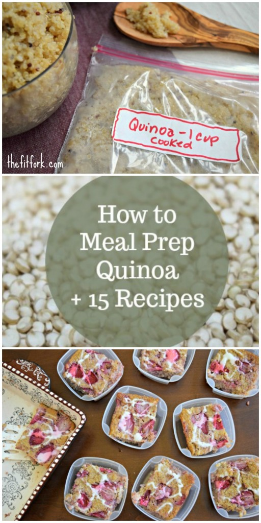 How to Meal Prep Quinoa + 15 Recipes - Keep breakfast, lunch, dinner and snacks healthy, easy and open for creative inspiration by batch cooking quinoa and keeping it in the freezer! Get the how to along with lots of delicious recipes.
