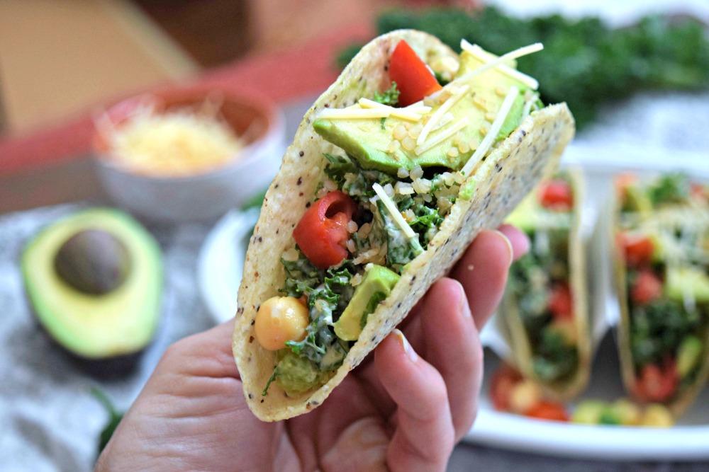 Plant Protein Caesar Salad Tacos