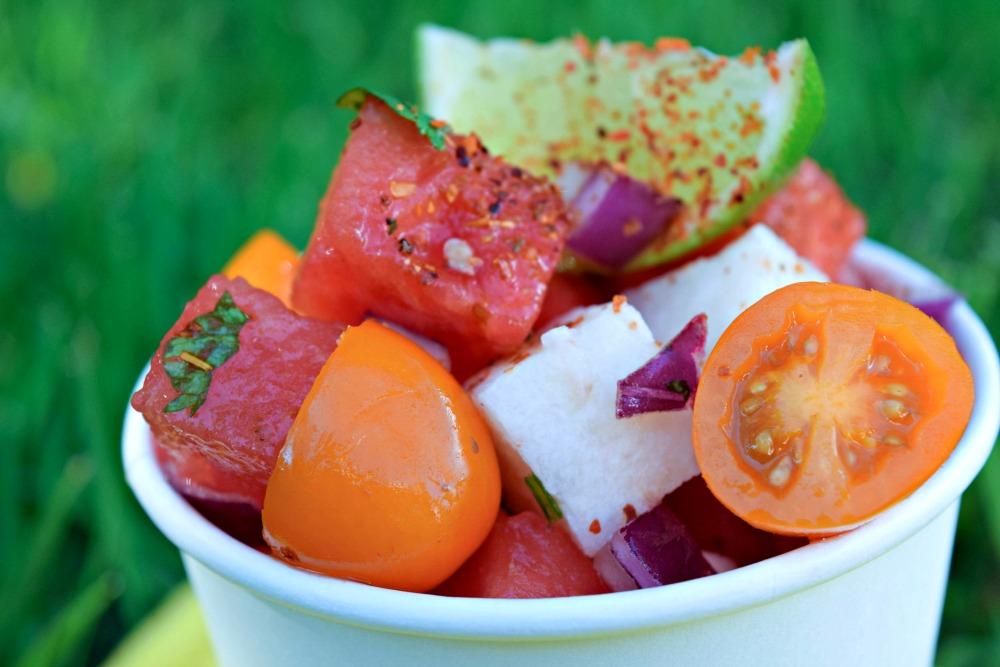 Watermelon Jicama tomato Salad