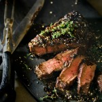Molasses & Pepper Crusted Flat Iron Steak