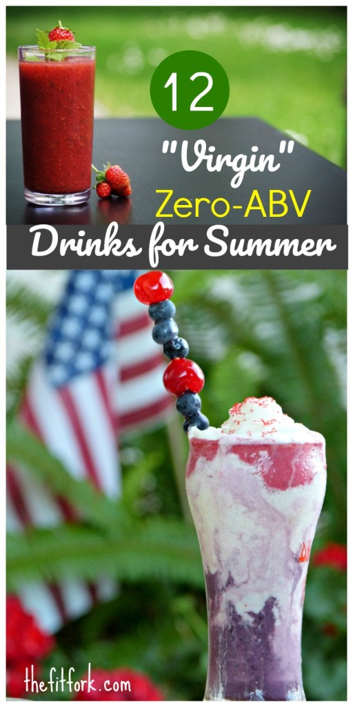 12 Virgin Zero-ABV Drinks for Summer will rock your pool party, picnic or post-workout festivities. Everything from mocktails to detox smoothies.