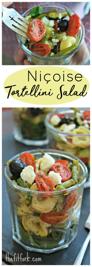 Niçoise Tortellini Salad makes a quick and easy light lunch, picnic or potluck dish. Add some grilled shrimp or chicken for a full meal!